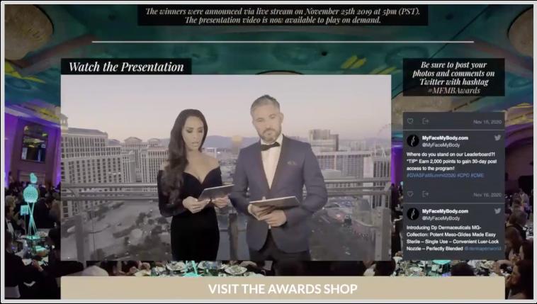 presenting virtual awards