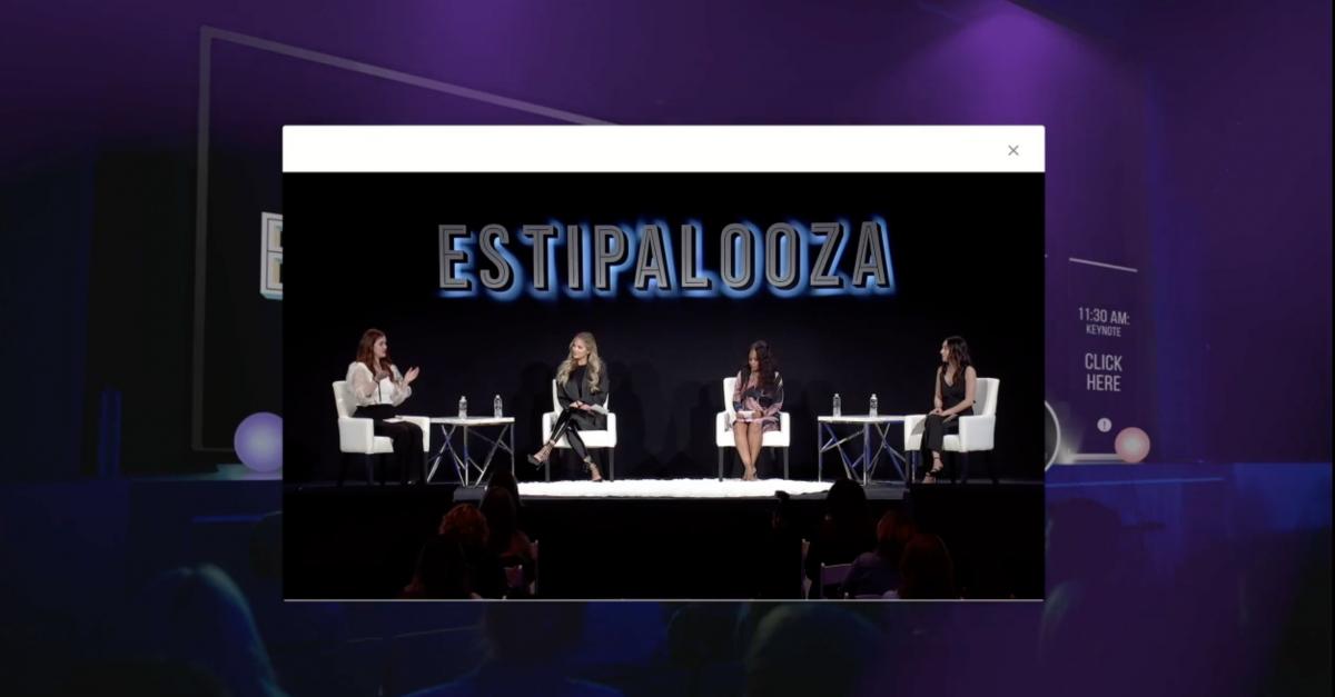 virtual presentation panel