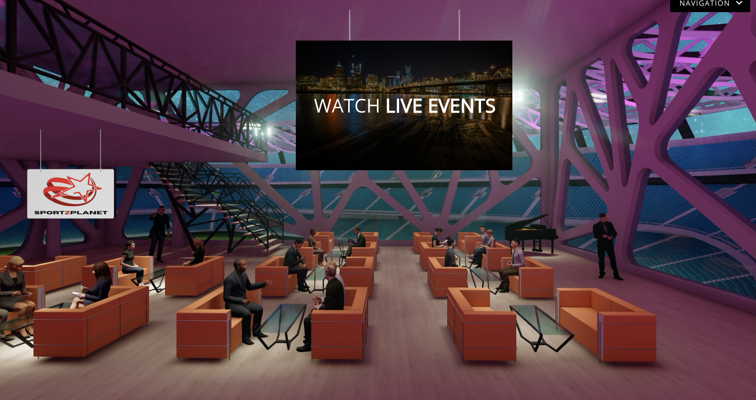 VIP room at virtual event