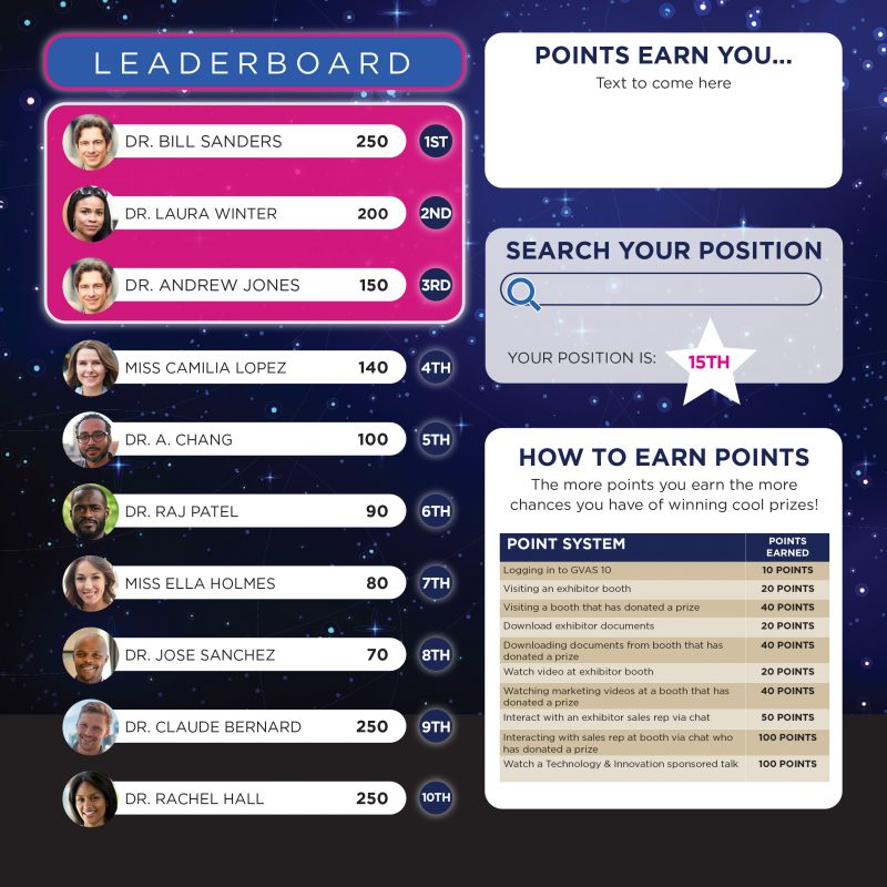 Fun on V-Unite virtual events platform with polls, quizzes and prizes