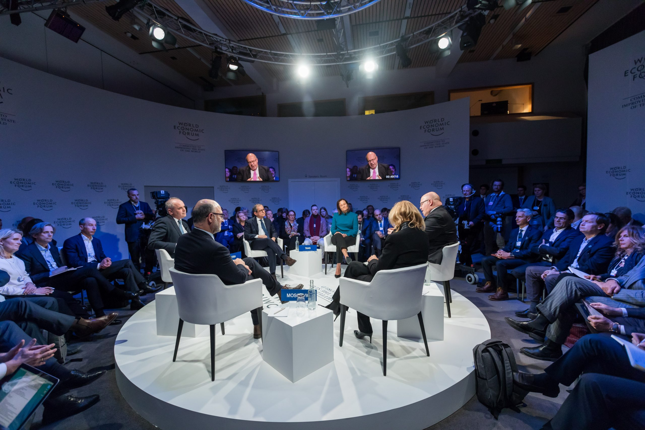 panel discussion at a hybrid event