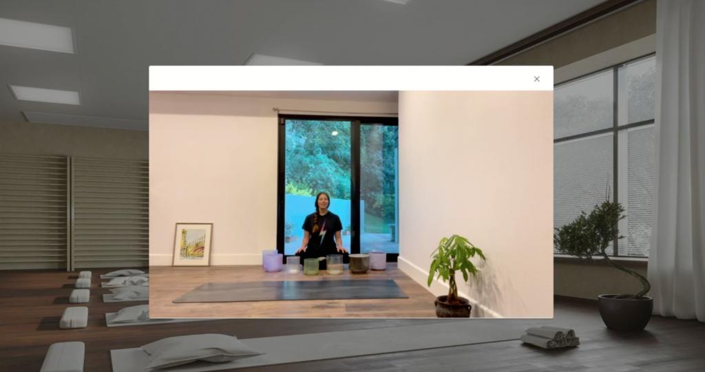 virtual yoga room