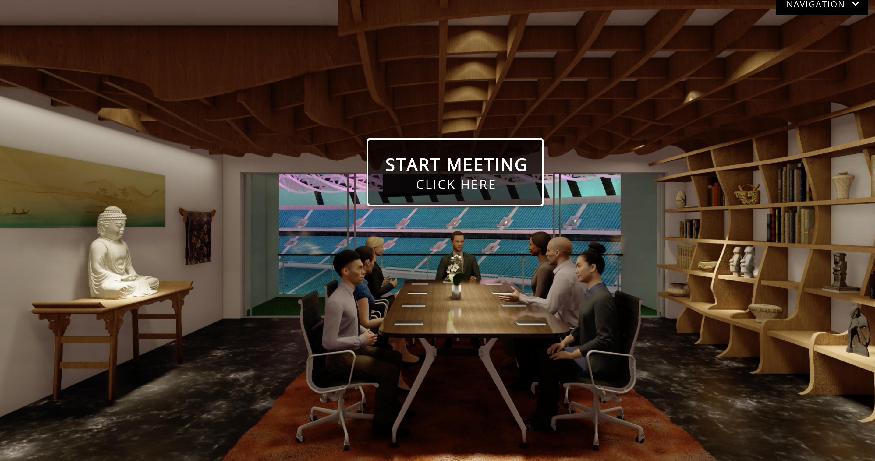 Boardroom for virtual meetings