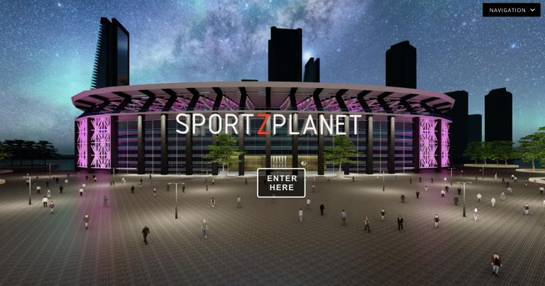 Entrance of SportsPlanet virtual event